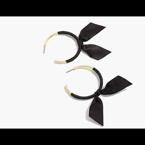 J.Crew Black Ribbon Wrap Earrings